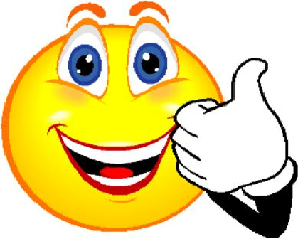 Smiley Face showing thumbs up