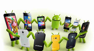 Photo of Android phones linking arms