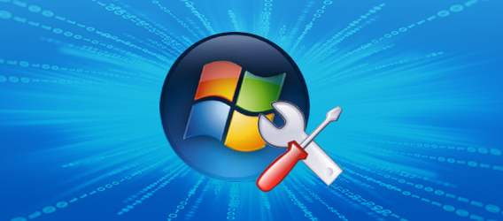 Illustration showing Windows logo and a couple of tools, a screwdriver and spanner